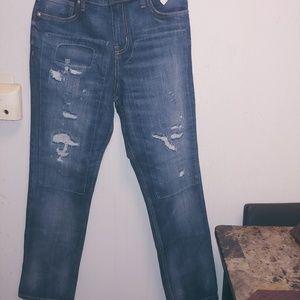 Unisex Denim Rip Jeans